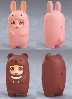 [OFFICIAL] Nendoroid More: Kigurumi Face Parts Case - Pink Rabbit & Brown Bear