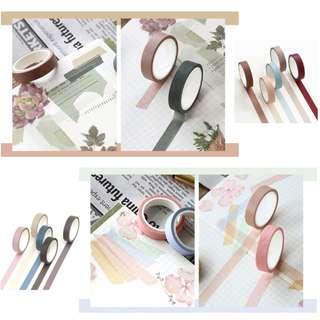 Set of 5 Washi Tapes
