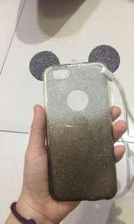 Casing mickey mouse iphone 6 plus warna silver