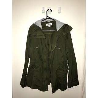 Ava & Ever Khaki Jacket with detachable Hood