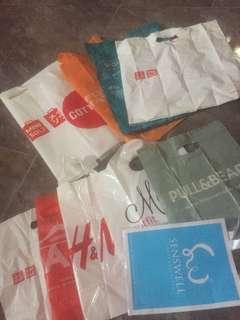 Plastic bag branded