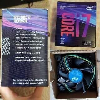 Intel 6 core i7 8700 CPU Desktop Processor 8 Gen