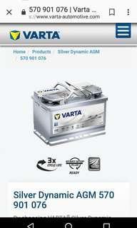 Varta E39 12v Car Battery 車電 Mercedes B180