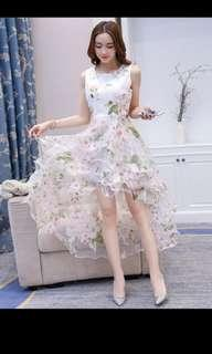 Floral dress with ruffled tail #ENDGAMEyourEXCESS