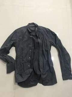 🚚 Esprit slim fit dark grey Long sleeve casual shirt