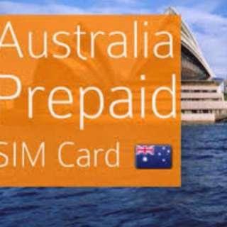 🇦🇺 BEST Australia SIM card 40GB 4G LTE, unltd local calls+ text (30 Days)