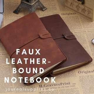 🚚 Faux Leather-Bound Notebook