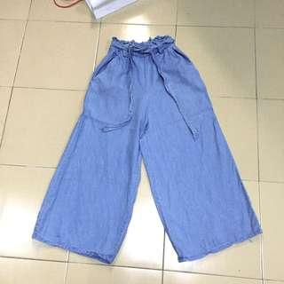 Cotton on high waisted denim culottes
