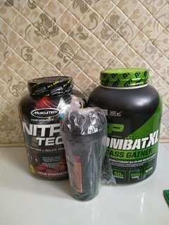 🚚 Whey protein mass gainer bundle