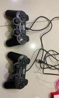 Controller ps hitam polos with usb connect