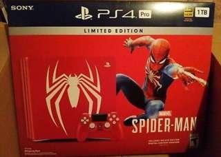 Sony PlayStation 4 Pro Slim 1TB - Marvel's Spider-Man Bundle - Jet Black/Red.