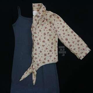 Take All: Colorbox Floral Outer Krem & Long Tank Dress