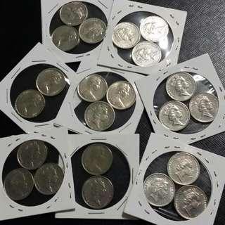 22 Coins ,  Australia 5 Cents