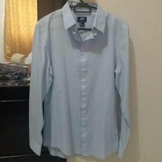 H&M light blue shirt for man