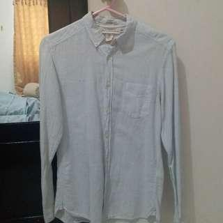 H&M Shirt blue soft stripe