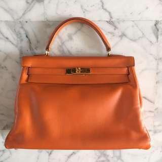 Hermes Kelly 32 Swift Orange