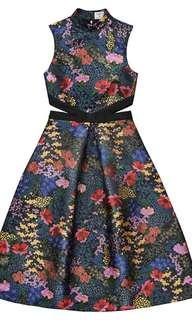 Jacquard Erdem X H&M floral dress limited edition