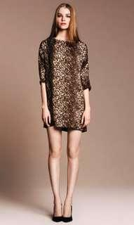 ZARA Basic Tunic Leopard Print Shift Dress