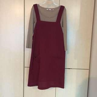 red pinafore dress #SpringCleanAndCarousell50