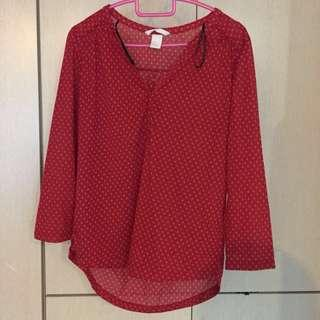 red blouse #SpringCleanAndCarousell50