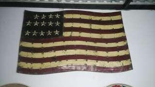 Bendera Amerika full metal..american style vintage