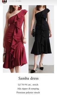 Dress one shoulder dress pesta