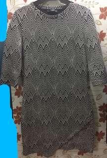 MANGO B&W Office Dress