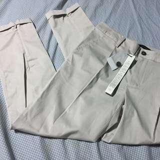Straight Cut Khaki Pants