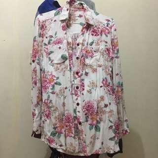 Baju kerja / blouse kerja bunga