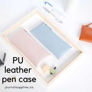 Minimalist PU Leather Pen/Pencil Case
