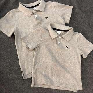 🚚 Matching Boys Grey Polo
