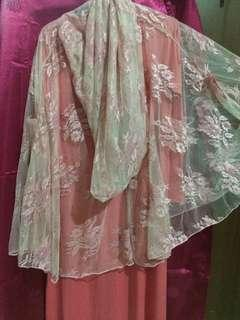 Baju gamis broukat warna salem