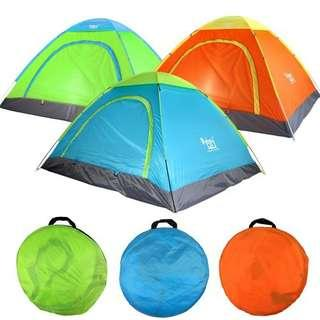 Green Fast Open 2-3 Peoole Camping And Outdoor Tent