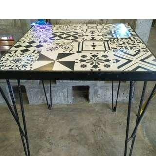 Ceramic & Wooden Table