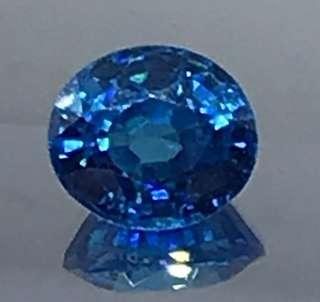 🚚 14 cts Blue Topaz Lab Oval CZ 10.5 x 13 mm Loose Gem