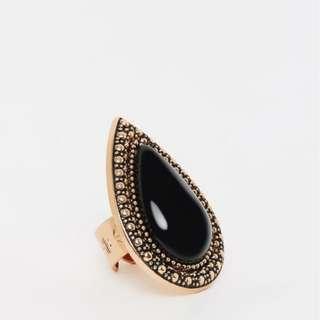 💫 Samantha Wills Bohemian Bardot Ring Black and Rose Gold