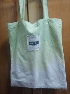 漸變綠的布袋 單孭袋