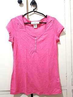 H&M LOGG Hot Pink Detailed Sheer Top (L)