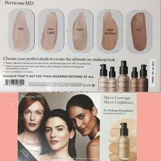 PERRICONE MD No Makeup Foundation Sample Card
