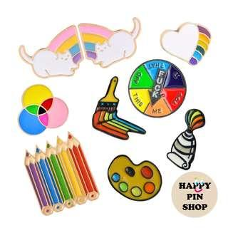 [AVAIL] Rainbow Enamel Pin Collection!