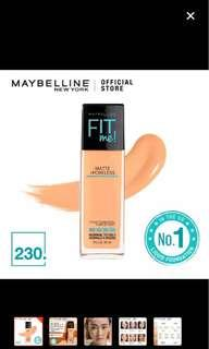 Maybelline Fit Me Matte and Poreless Foundation -230 Natural Buff