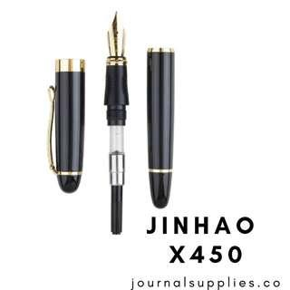 Jinhao X450 Fountain Pen - Black with Gold Trim