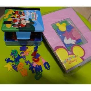 Children handicraft plastic ABC and foam art cutting