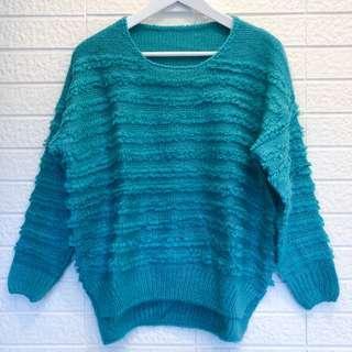 🚚 正韓 綠色針織毛衣上衣