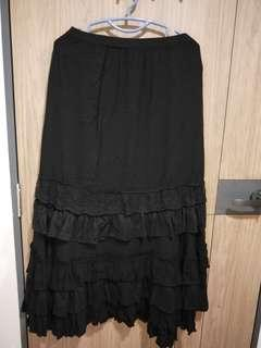 Black  layered long Skirt