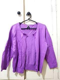 Cute Purple Cardigan (L)