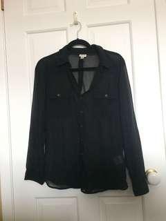 Dynamite chiffon shirt