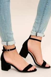 Block heels (black)