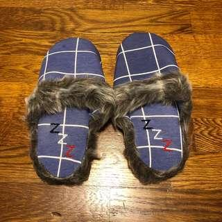 Brand new Cotton On blue checked bedroom slipper