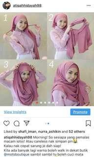 Instant shawl mira Filzah